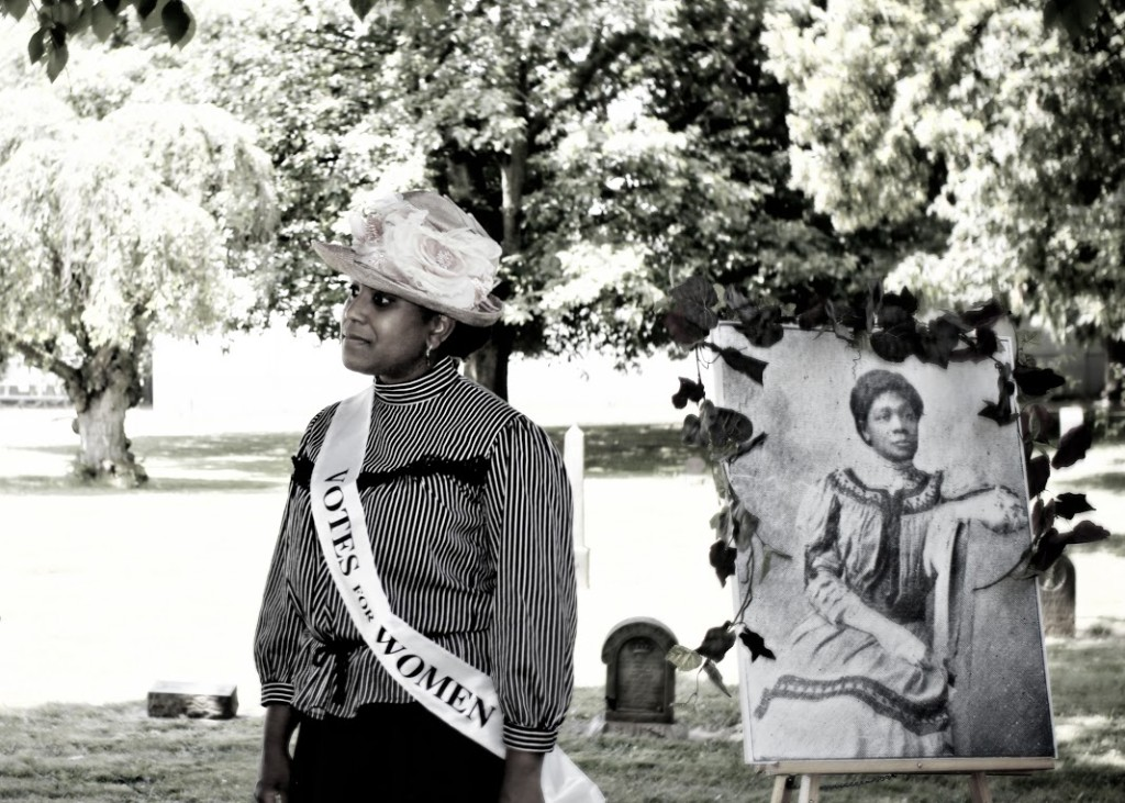 Kimberly Howard, Suffragists Among Us, Lone Fir Pioneer Cemetery, 2012.