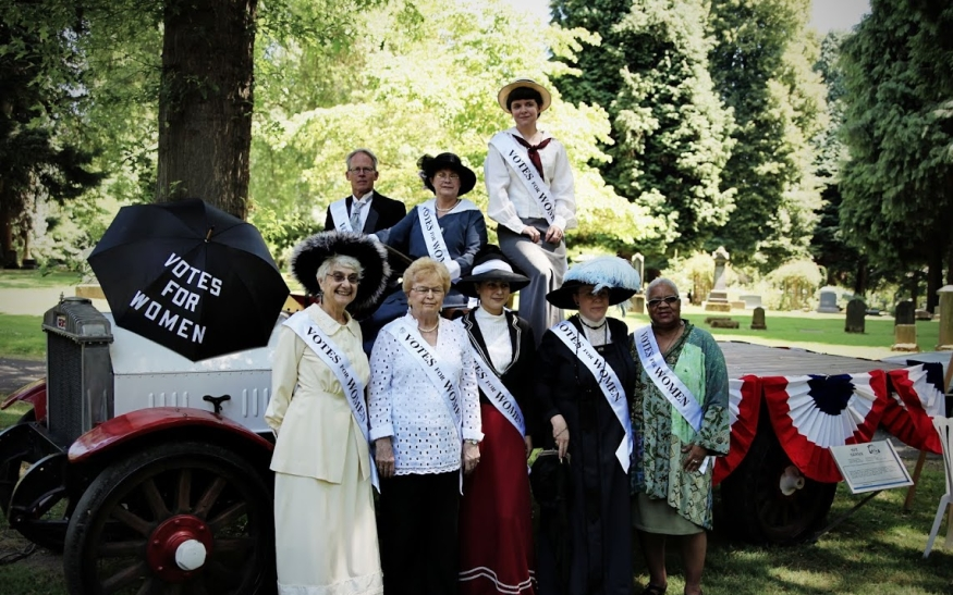 Suffragists Among Us, Lone Fir Pioneer Cemetery, June 2012.